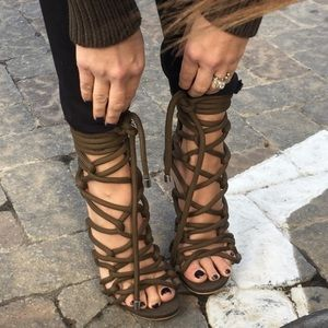 STEVE MADDEN LACE UP HEELS 2017 7.5